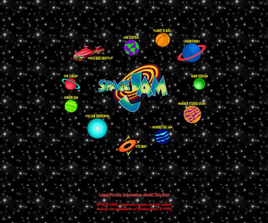 SPACE JAM WEBSITE , 1996