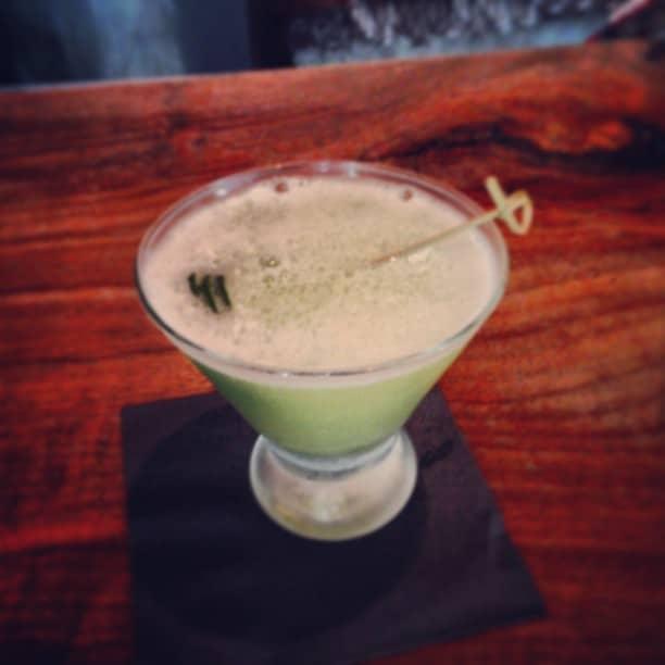 Special cucumber martini at nobu's