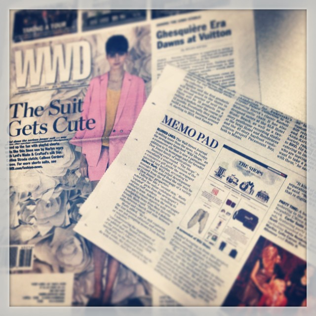 The Shops at WSJ Launch in @womensweardaily Print