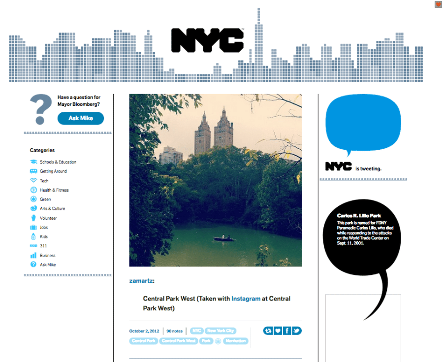 NYC Gov Features my Photo from 2012