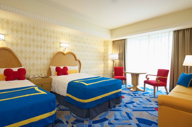 Donald Duck Themed Hotel Room