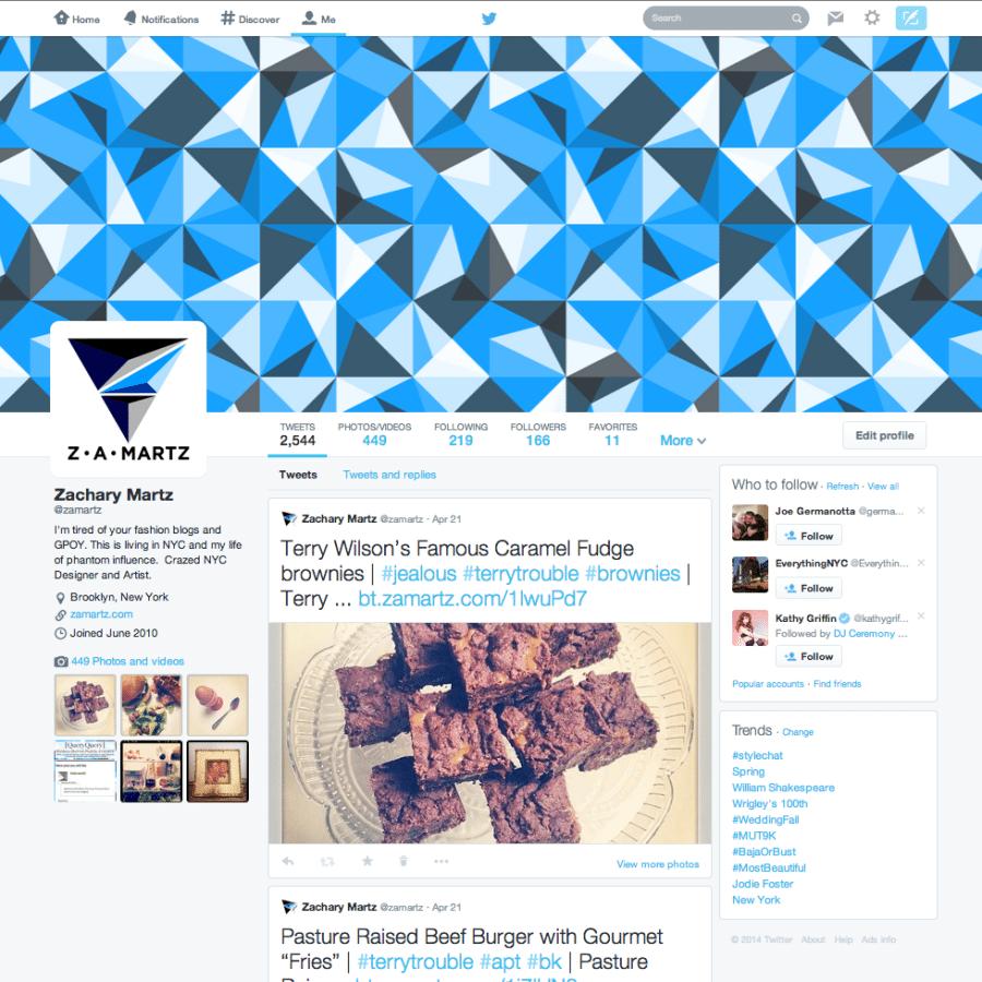ZAMARTZ New Twitter Layout 2014
