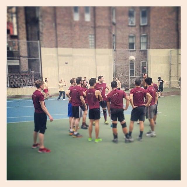 Frederick's Gotham volleyball team