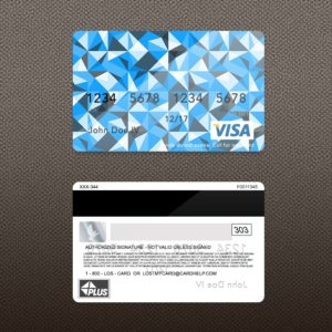 Free Bank Card (Credit Card) PSD Template – Donation