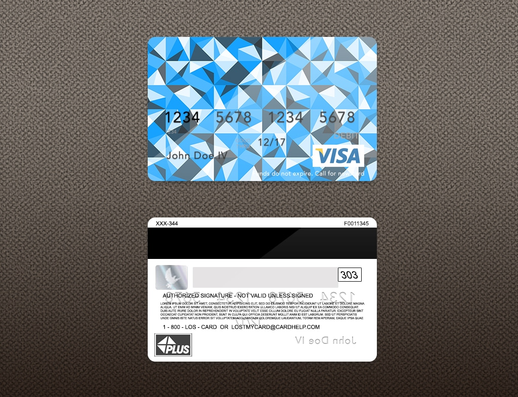 Bank Card Template Dark