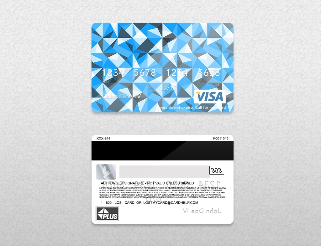 Bank Card Template Light