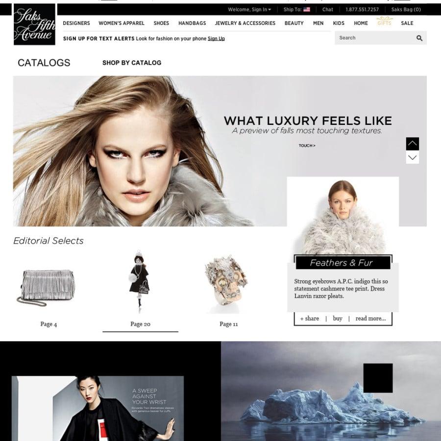 Saks Online Catalog Concept Design