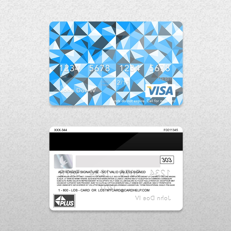 Bank Card (Credit Card) Layout – PSD Template
