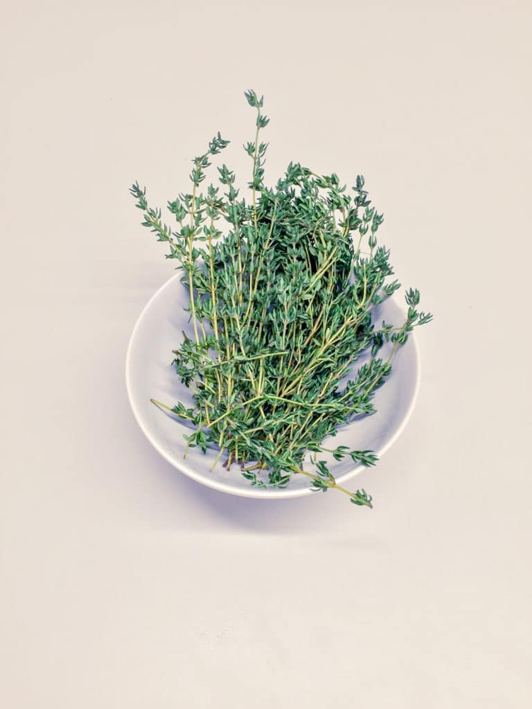 spa water ingredient thyme