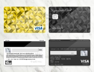 Bank Card Template Plus Light Marbel