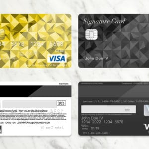 Bank Card (Credit Card) PLUS PSD Template – Donation