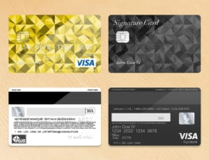 Bank Card Template Plus Light Wood Grain