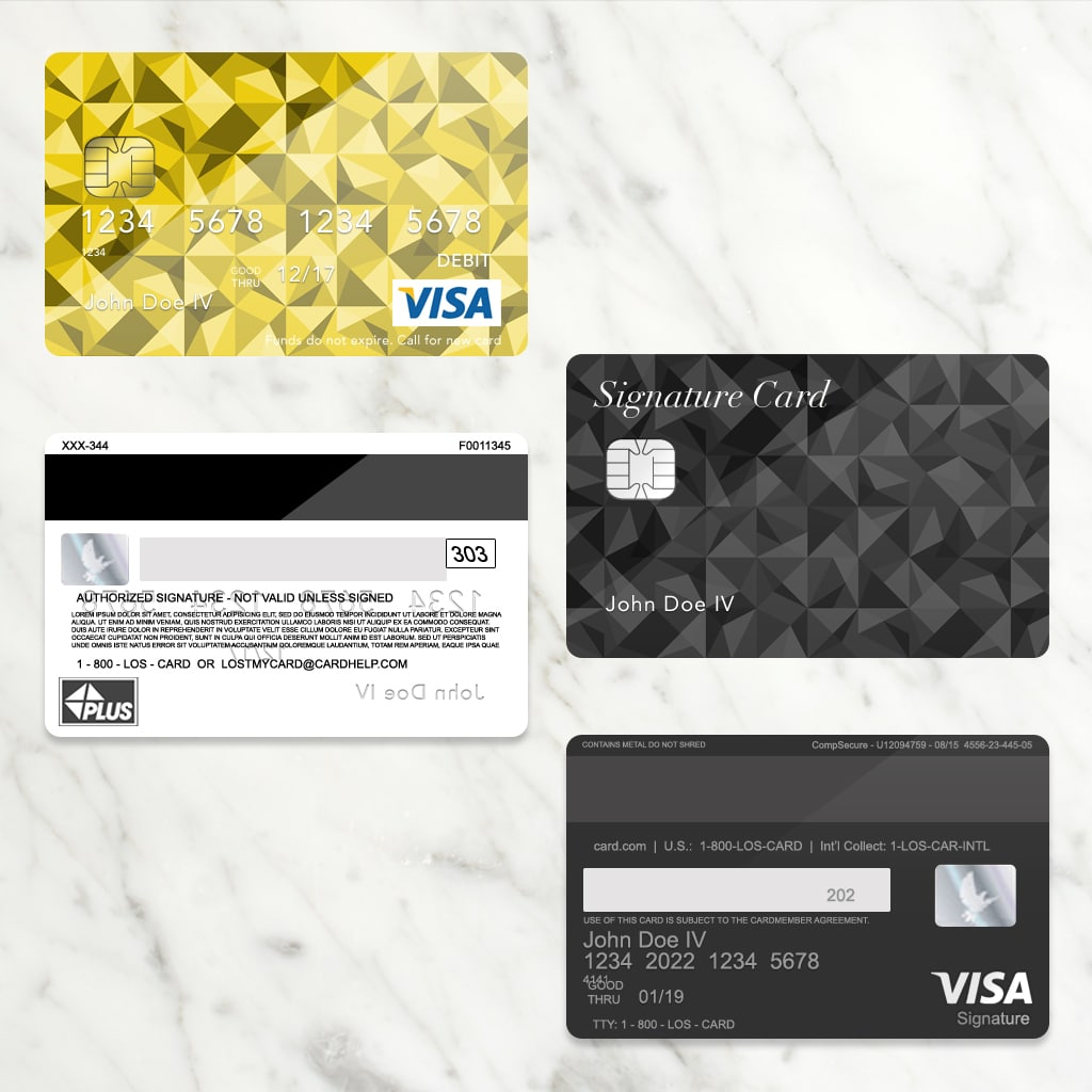 Bank Card Template Plus