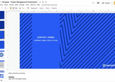 zamartz project management-presentation deck intro slide