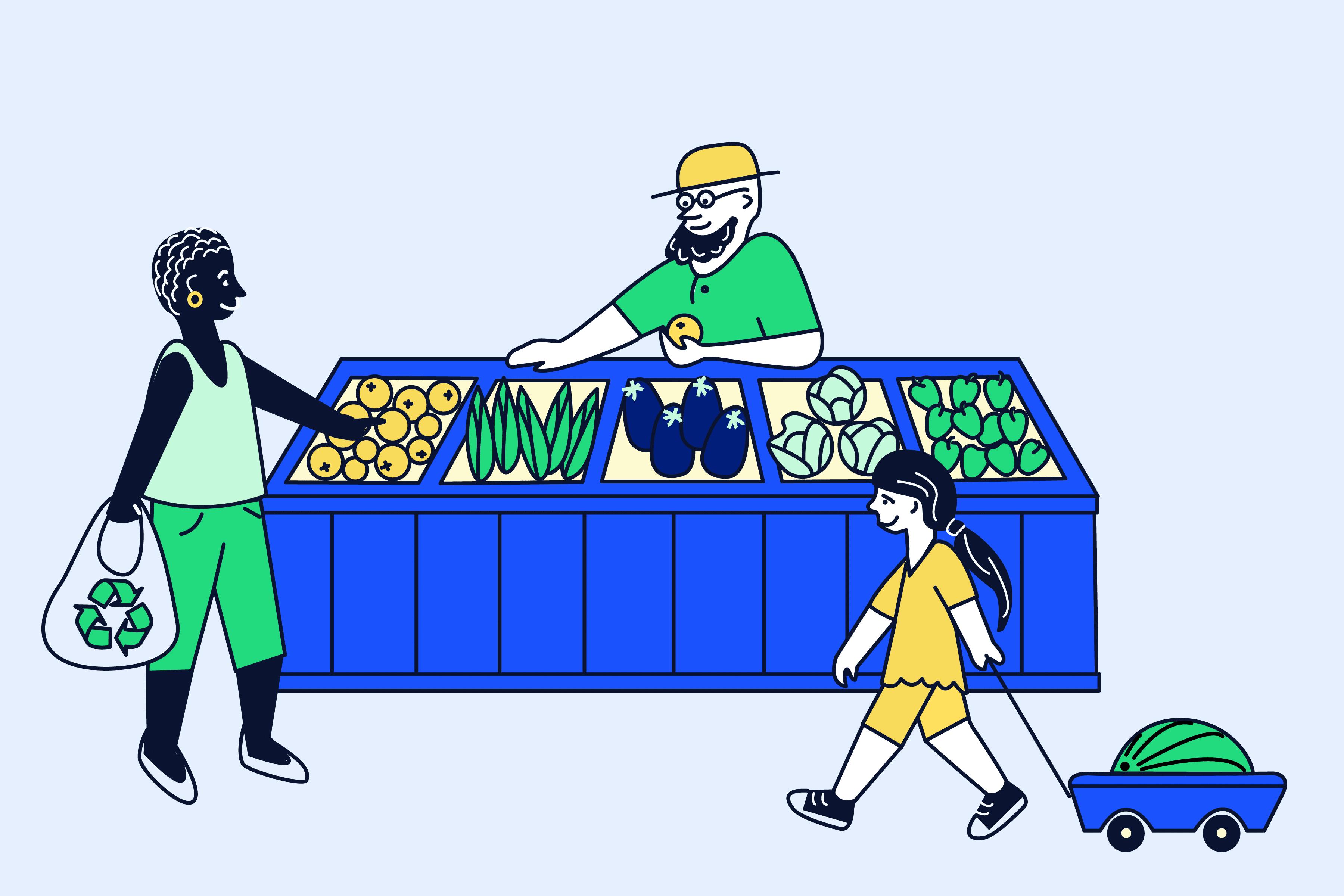 ZAMARTZ Title Sponsor Farmers Market Illustration